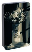 White Wildflowers In June Portable Battery Charger