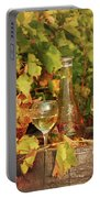 White Wine And Vineyard Autumn Season Portable Battery Charger