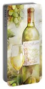 White Wine Watercolor Portable Battery Charger