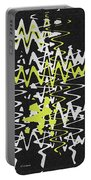 White Yellow On Black Portable Battery Charger