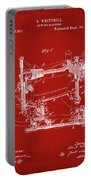 Whitehill Sewing Machine Patent 1885 Red Portable Battery Charger