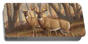 Whitetail Deer Painting - Fall Flame Portable Battery Charger