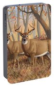 Whitetail Deer Painting - Fall Flame Portable Battery Charger by Crista Forest