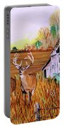 Whitetail Deer With Truck And Barn Portable Battery Charger