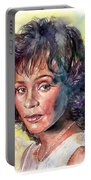 Whitney Houston Portrait Portable Battery Charger