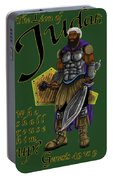 Who Shall Rouse Judah-yellow Trim Portable Battery Charger