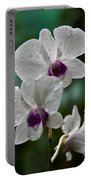 Whte Orchids Portable Battery Charger