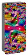 Wicker Marble Rainbow Fractal Portable Battery Charger