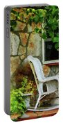 Wicker Rocking Chair On Porch Portable Battery Charger