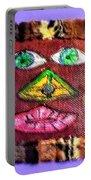 Wide Eyed Loup Garou Mardi Gras Screen Mask Portable Battery Charger