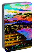 Wild And Crazy Mountainous Sunset Portable Battery Charger