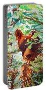 Wild Bear Peek-a-boo Watercolour Portable Battery Charger