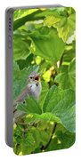 Wild Bird In A Currant Bush. Portable Battery Charger