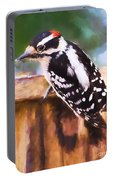 Wild Birds - Downy Woodpecker  Portable Battery Charger