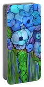 Wild Blue Poppies Portable Battery Charger