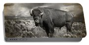 Wild Buffalo In Yellowstone Portable Battery Charger