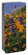 Wild California Poppies And Lupine Portable Battery Charger