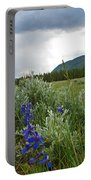 Wild Delphinium Portable Battery Charger