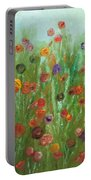 Wild Flowers Abstract Portable Battery Charger