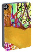 Wild Flowers Abstract Art - Sharon Cummings Portable Battery Charger