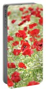 Wild Flowers Meadow Spring Scene Portable Battery Charger