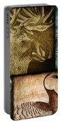 Wild Game Primitive Patchwork Portable Battery Charger