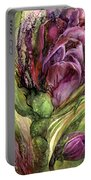 Wild Garden Tulips Portable Battery Charger