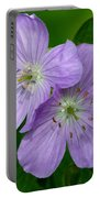 Wild Geranium Portable Battery Charger