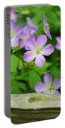 Wild Geraniums Portable Battery Charger
