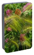 Wild Grasses And Red Clover Portable Battery Charger