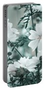 Wild Hollyhock. Nature In Alien Skin Portable Battery Charger