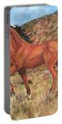 Wild Horse In Virginia City, Nevada Portable Battery Charger