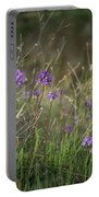 Wild Hyacinth At Sunset Portable Battery Charger