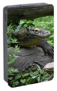 Wild Komodo Dragon Crawling Through Nature Portable Battery Charger