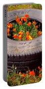 Wild Poppies Recycled Portable Battery Charger