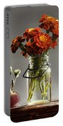 Wild Red Apples With Marigolds Portable Battery Charger