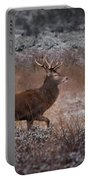 Wild Winter Stag Portable Battery Charger