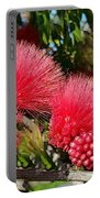 Wild, Red Fluffy Flowers  Portable Battery Charger