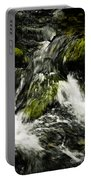 Wild Stream Of Green Moss Portable Battery Charger