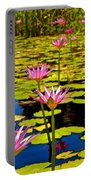 Wild Water Lilies 3 Portable Battery Charger