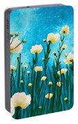 Poppies In The Blue Sky Portable Battery Charger