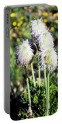 Wild White Puffs Portable Battery Charger