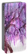 Wild Wisteria Portable Battery Charger