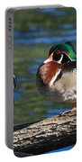 Wild Wood Ducks On A Log Portable Battery Charger