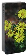 Wild Yellow Flowers Portable Battery Charger