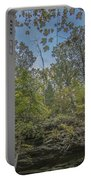 Wildcat Den Cliffs And Trees In Fall Portable Battery Charger