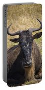 Wildebeest Taking A Break Portable Battery Charger