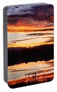Wildfire Sunset Reflection Image 28 Portable Battery Charger