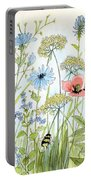 Wildflower And Bees Portable Battery Charger