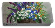 Wildflower Basket Acrylic Painting A61318 Portable Battery Charger